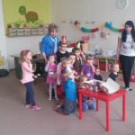 Oslava narozenin v mateřské škole